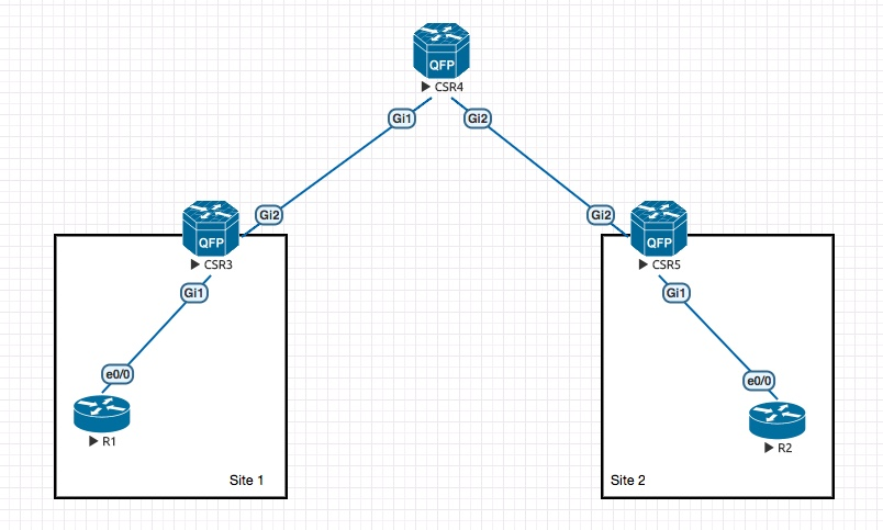 VxLAN on the CSR1Kv - Packet-forwarding net
